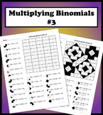 Multiplying Binomials Color Worksheet #3