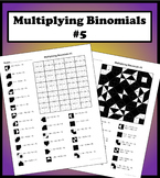 Multiplying Binomials Color Worksheet #5