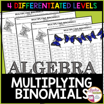 Multiplying Binomials Coloring Activity