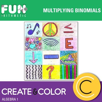 Multiplying Binomials Color Worksheets Teaching Resources Tpt