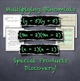 Multiplying Binomials: Discovering Special Products