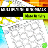 Multiplying Binomials (FOIL) Maze Activity
