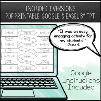 Multiplying Binomials Foil Maze Worksheet Beginner By Amazing