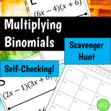 Multiplying Binomials (FOIL) Scavenger Hunt Activity