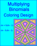 Multiplying Binomials (Foil) - Coloring Activity
