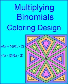 Multiplying Binomials (Foil) - Coloring Activity