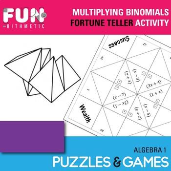 Multiplying Binomials Fortune Teller Activity