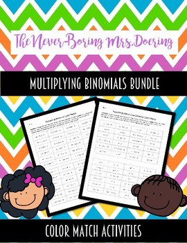 Multiplying Binomials And Special Case Binomials Color Matches