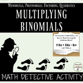 Multiplying Binomials Math Detective Activity