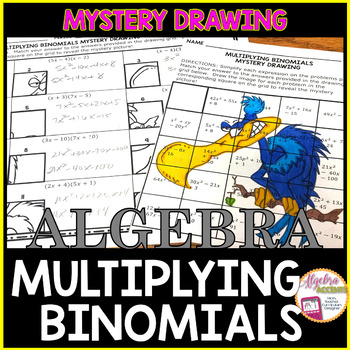 Multiplying Binomials Mystery Drawing
