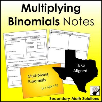 Multiplying Binomials Notes