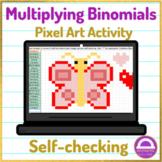 Multiplying Binomials Pixel Art Activity