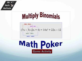 Multiplying Binomials - Poker Game