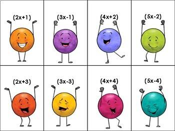 Multiplying Binomials Poly-Partners Activity