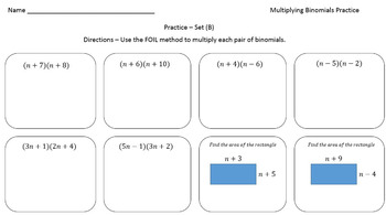 Multiplying Binomials (Practice Problems Crafted for Every Learner)
