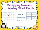 Multiplying Binomials Puzzle / Task Cards - Self Checking