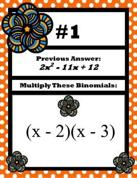 Multiplying Binomials Scavenger Hunt