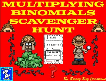 Multiplying Binomials Scavenger Hunt