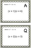 Multiplying Binomials Scavenger Hunt/Around the Room