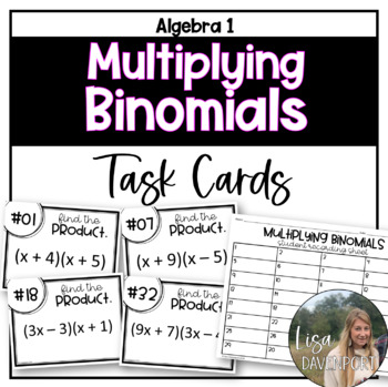 Multiplying Binomials (Task Cards)