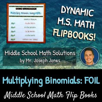Multiplying Binomials Using FOIL Flip Book