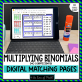 Multiplying Binomials for Google Slides™ Distance Learning