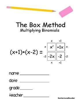 The Box Method - Multiplying Binomials