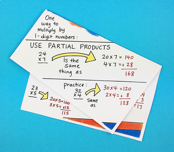 Multiplying By 1 Digit Numbers Interactive Notebook Foldable by Math Doodles