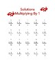 Multiplying By 1 Valentines Worksheet