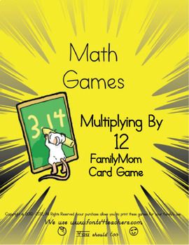 Multiplying By 12 FamilyMom Card Game