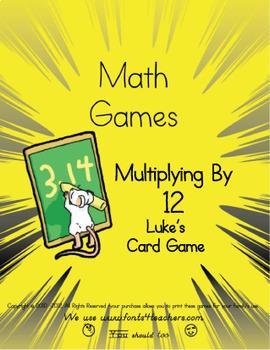 Multiplying By 12 Luke's Card Game