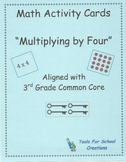 Multiplying By Four Math Activity Cards