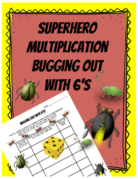 Superhero Multiplying By Six: Bugging Out Game