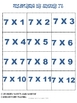 Multiplying By Sneaky Sevens Game