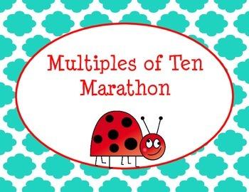 Multiplying By Tens Multiples of Ten Marathon Math Game
