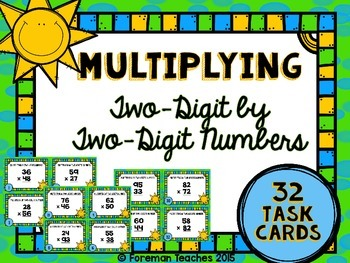 Multiplying By Two-Digit Numbers Task Cards