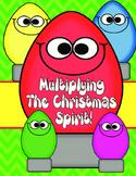 Multiplying Christmas- 2 digit by 2 digit Multiplication Q