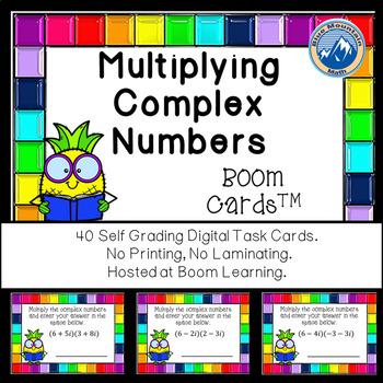 Multiplying Complex Numbers Boom Cards--Digital Task Cards