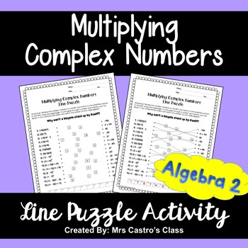 Multiplying Complex Numbers: Line Puzzle Activity