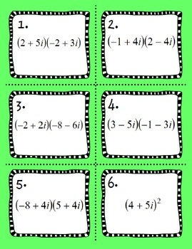Multiplying Complex Numbers Matching