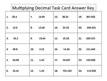 Multiplying Decimals Bundle - 3 activities