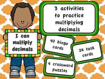 Multiplying Decimals Bundle - 3 activities