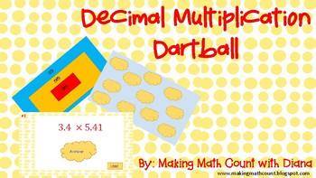 Multiplying Decimal Dartball