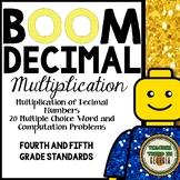 Multiplying Decimal Numbers Digital BOOM! Interactive Task Cards