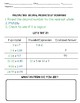 Multiplying Decimal Numbers Guided Math Notes