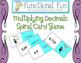 Multiplying Decimals Spiral Card Game