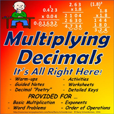 Mini Multiplying Decimals Unit (With Exponents): Warm ups, Notes, Worksheets