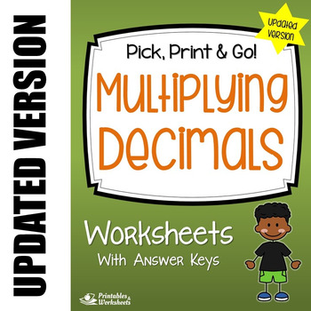 Decimal Multiplication Worksheets (with Multiplying Decimals by Whole Numbers)
