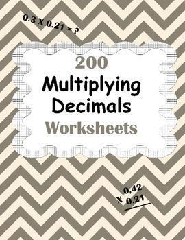 Multiplying Decimals Worksheets