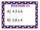 Multiplying Decimals Stations